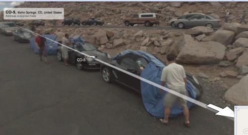 Porsche et Google Street View