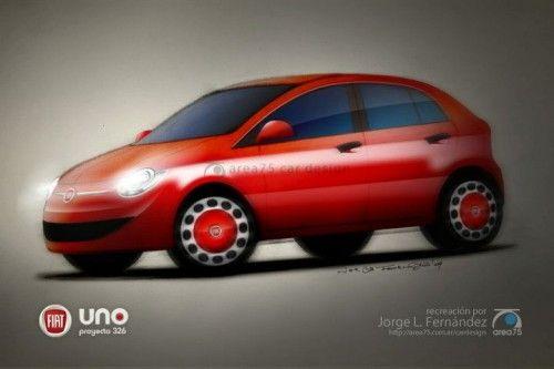 Fiat Uno 2011 - rendu