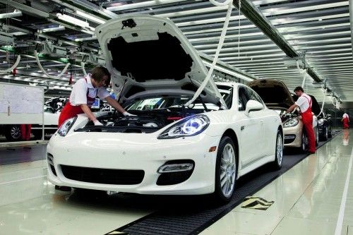 Chaine de production de la Porsche Panamera