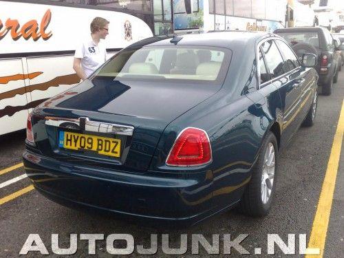 Rolls Royce Ghost vue de l'arrière - spyshot