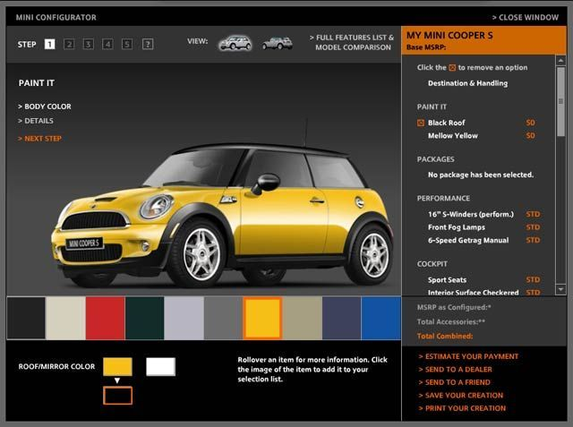 Configurateur Mini Jaune mellow