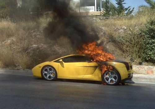 gallardo on fire