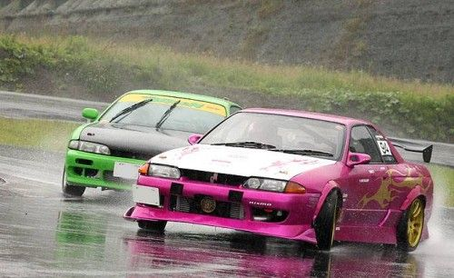 two on drift under the rain