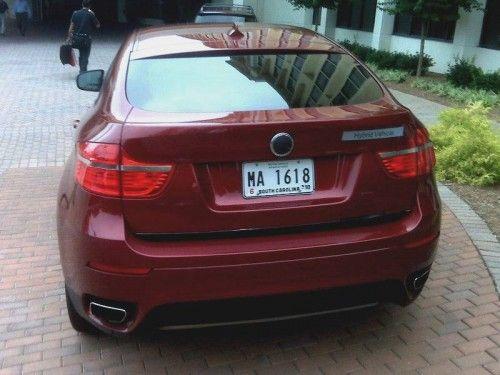 BMW X6 hybrid back