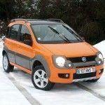 Fiat Cross panda dans la neige du Montana