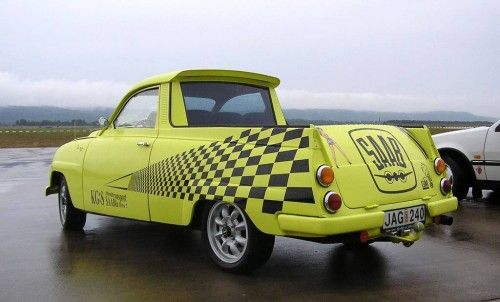 saab 95 pick up jaune