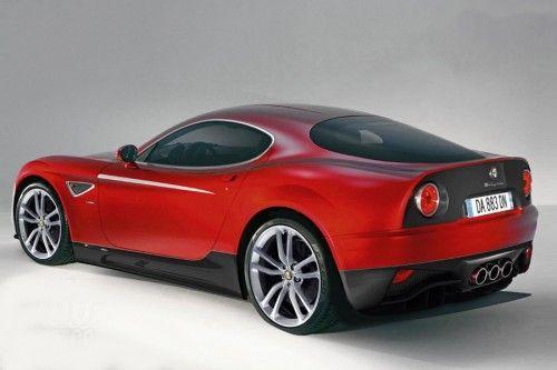 Alfa roméo 8C GTA 2010 back