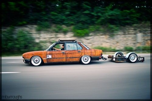 BMW with trailer
