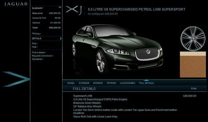 Configurateur Jaguar XJ