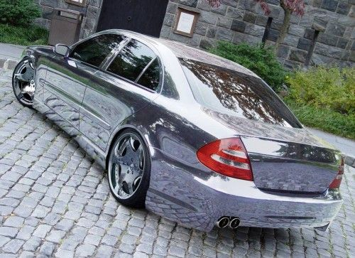 Mercedes E 500 tuned & chromed