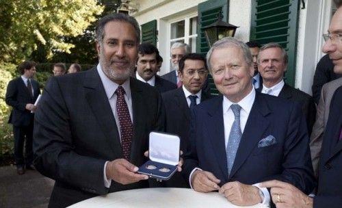 Qatar PM Hamad bin Jassim Al Thani and Dr. Wolfgang Porsche