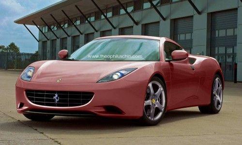 Rendering Ferrari V6 ou Dino 2012