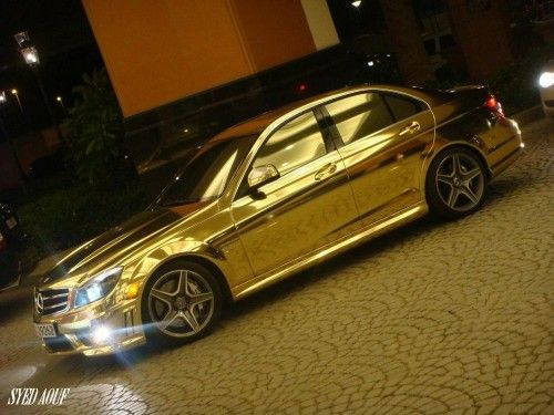 chrome-mercedes-c63-picture
