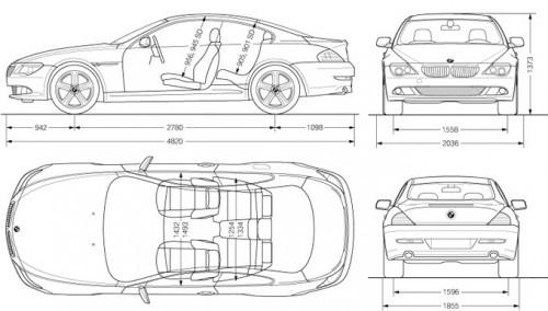 BMW 635D - dimensions