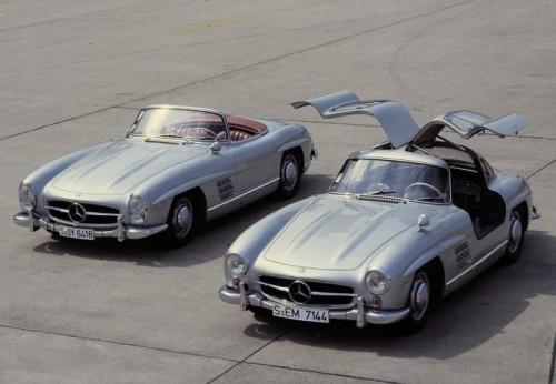 SL 1954 gullwing et cabrio