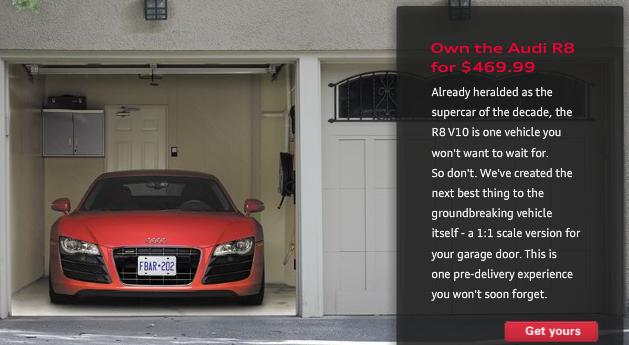 Mettez une audi r8 dans votre garage pour 295 blog for Garage pour entretien audi