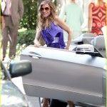sarah jessica parker purple dress 010909