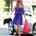 sarah jessica parker purple dress 010909