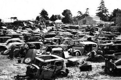 casse auto des années 50