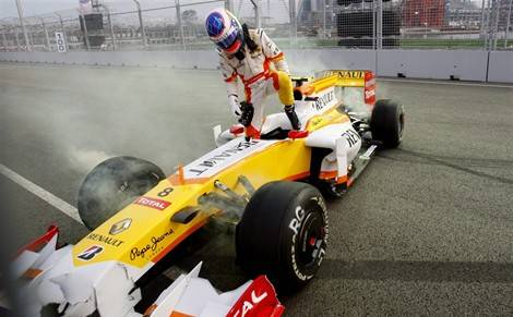 crash grosjean singapour 2009