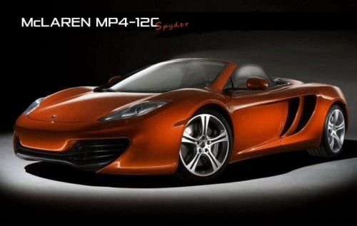 MP4-12C Spider rendering