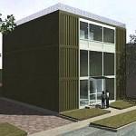 Maison Stark faite à partir de containers.
