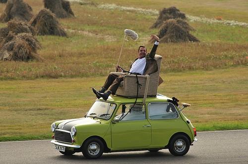 Mister Bean et sa Mini....