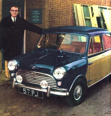 PeterSellers et sa Mini sur mesure