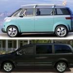 comparaison USA Routan-Microbus