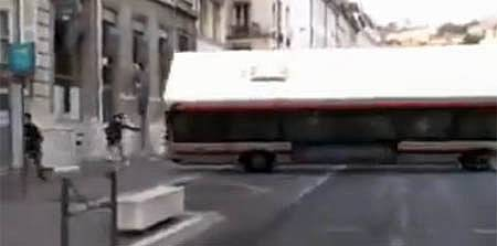 Accident d'un bus des TCL