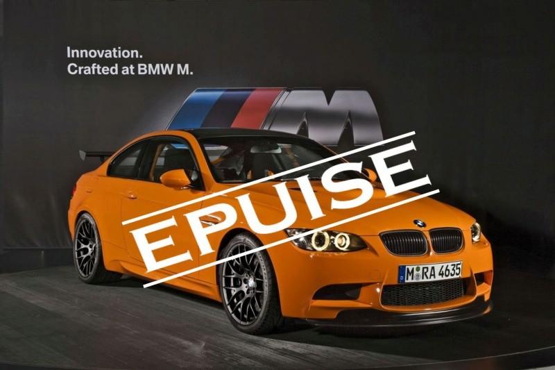 BMW M3 GTS - tout est vendu-