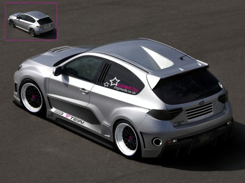 Impreza WRX 3 doors rear engine