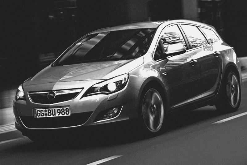 Opel Astra Station Wagon. The station wagon variant of