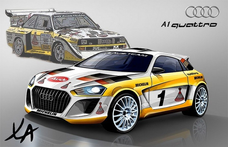 Audi a1 Quattro rally version