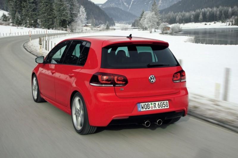 golf r 224 la neige le est mis automobile