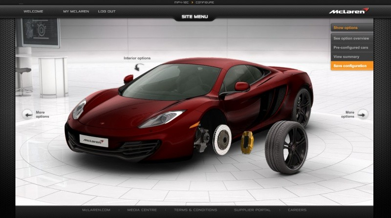 mclaren configurez la mp4 12c elle n 39 attend que a blog automobile. Black Bedroom Furniture Sets. Home Design Ideas