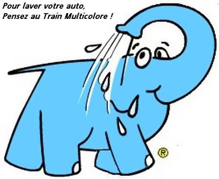 Eléphant bleu