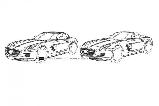 Mercedes Benz SLS AMG Roadster 113 560x373 Mercedes SLS AMG Roadster : ... par Jonsibal !