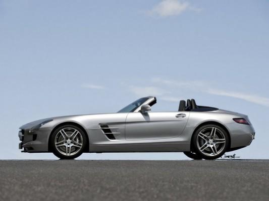 SLS AMG roadster .1 533x400 Mercedes SLS AMG Roadster : ... par Jonsibal !