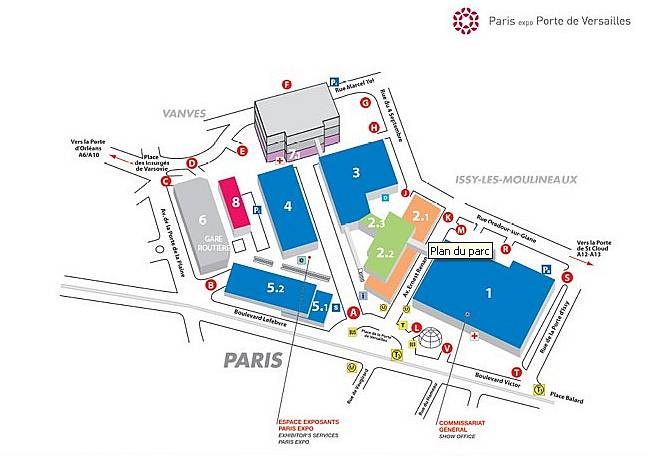 Plan parc des expositions porte de versailles 28 images for Parking r porte de versailles