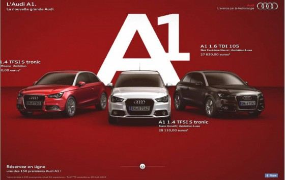 audi a1 les infos de la semaine blog automobile. Black Bedroom Furniture Sets. Home Design Ideas