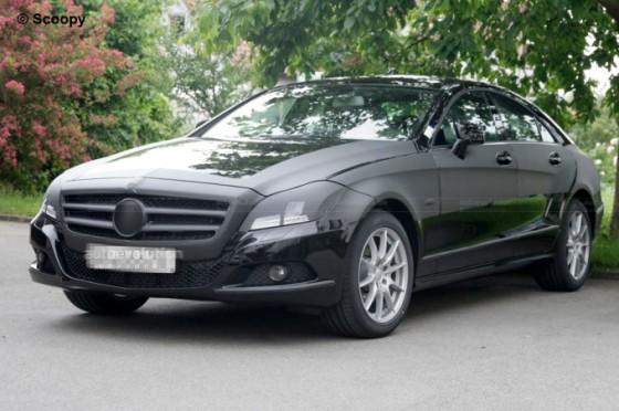 spysho15 560x372 Mercedes CLS 2011 : Spyshots, previews et vidéo