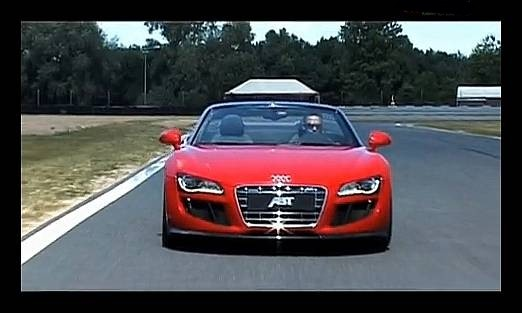 audi r8 v10 spyder by abt rouge de plaisir vid o blog automobile. Black Bedroom Furniture Sets. Home Design Ideas