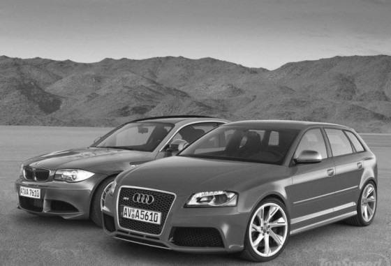 audi rs3 vs bmw serie1 m coup le match virtuel blog automobile. Black Bedroom Furniture Sets. Home Design Ideas