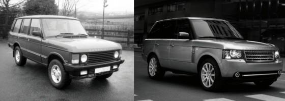 range rover classic vs range rover 2010 30 ans les s parent mais ils sont si proches. Black Bedroom Furniture Sets. Home Design Ideas