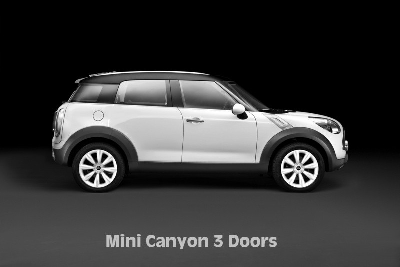 mini canyon ou la mini countryman en costume 3 portes blog automobile. Black Bedroom Furniture Sets. Home Design Ideas