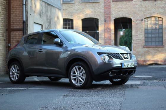 Photo du Nissan Juke 2010 durant les essais presse internationaux