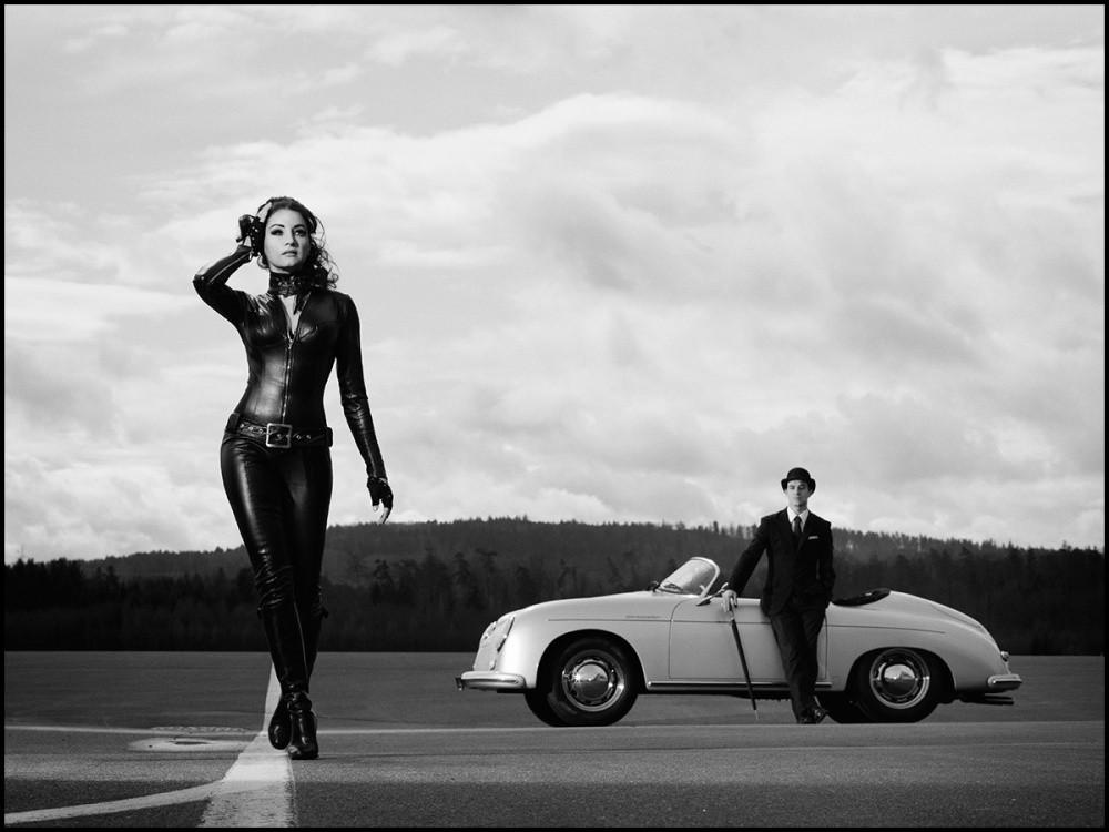 Porsche 356 et bottes de cuir blog automobile - Chapeau melon et bottes de cuir purdey ...