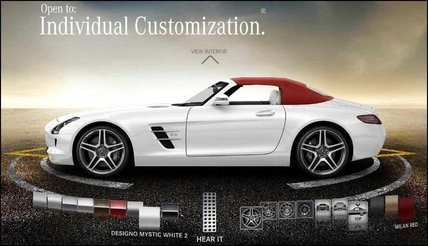 mercedes benz sls amg roadster petit configurateur pour grand roadster blog automobile. Black Bedroom Furniture Sets. Home Design Ideas