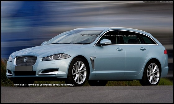 jaguar la vision r aliste de la xf sportbrake par t chin. Black Bedroom Furniture Sets. Home Design Ideas